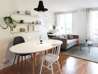 Scandinavian style dining room by Sandrine Carré Scandinavian