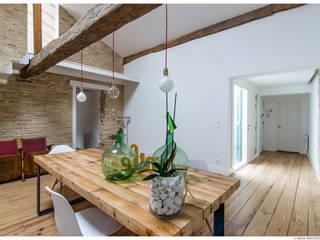 Reforma de Atico en Pamplona Comedores de estilo minimalista de TALLER VERTICAL Arquitectura + Interiorismo Minimalista