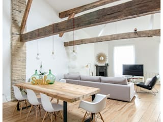 Reforma de Atico en Pamplona: Comedores de estilo  de TALLER VERTICAL Arquitectura + Interiorismo