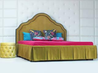 Кровать с фигурным изголовьем :  в . Автор – Sofas&Decor