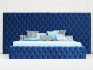 Кровать с широким изголовьем в технике каретной стяжки:  в . Автор – Sofas&Decor