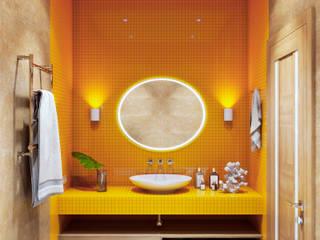 Готовый интерьер под ключ в эко стиле: Ванные комнаты в . Автор – Tim&Team,