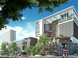 Hyatt Regency Don-Plaza Hotel by AR Architecture Modern