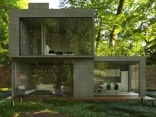 Loft Urban 2 niveles: Casas de campo de estilo  por Chalets & Lofts