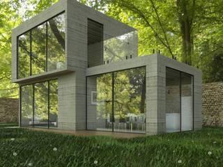 Loft Urban 2 niveles de Chalets & Lofts Minimalista Concreto reforzado