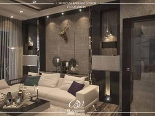 غرفة المعيشة تنفيذ Bvision Interiors,