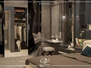 غرفة الملابس تنفيذ Bvision Interiors,