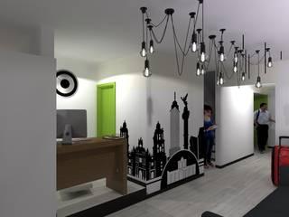 Vallejo 1660 Pasillos, vestíbulos y escaleras modernos de Arkalli Moderno