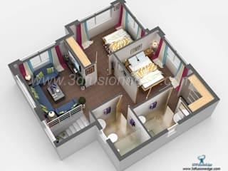Design House 3D Floor Plans by 3DFUSIONEDGE