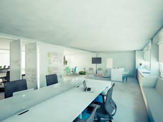 Escritório avançado | SESI Escritórios modernos por Fabiana Bez | Arquitetura Contemporânea Moderno