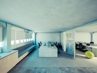 Escritório avançado | SESI: Escritórios  por Fabiana Bez | Arquitetura Contemporânea