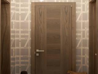 Corredores, halls e escadas minimalistas por Студия интерьерного дизайна happy.design Minimalista