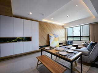 Modern Dining Room by 見本設計 Modern