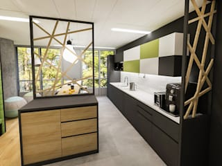 Powierzchnia biurowa dla ASB Group: styl , w kategorii  zaprojektowany przez FusionDesign