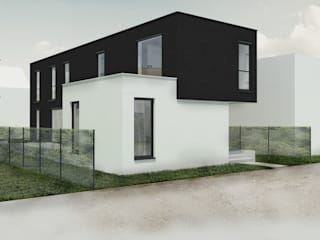 homify Detached home سنگ