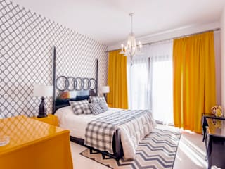 Water front Chalet Eclectic style bedroom by COCA INTERIORS Eclectic