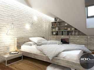 Industrial style bedroom by MONOstudio Industrial