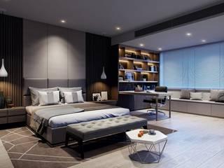 BIỆT THỰ SONG LẬP Q12:  Phòng ngủ by REAL HOME VN