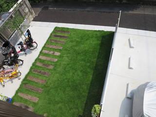 まつばらの家 モダンな庭 の (有)クエストワークス一級建築士事務所 モダン