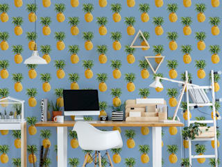 Pineapple Fever Tropical style study/office by Pixers Tropical