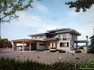 Maisons modernes par Компания архитекторов Латышевых 'Мечты сбываются' Moderne