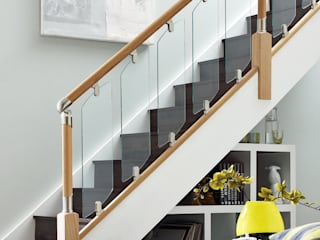 Glass Stair Balustrades de Wonkee Donkee Richard Burbidge Moderno