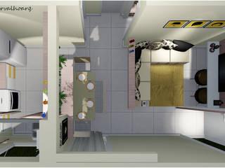 Apartamento Jovem - Meu Decorado MRV por Lima Carvalho Arquitetura Moderno
