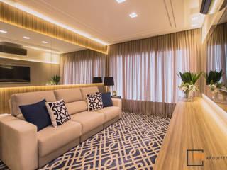 Sala de Estar G.G.: Salas de estar  por Panatto Hilgemberg Arquitetura