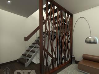 Separación mural - Escalera : Pasillos y vestíbulos de estilo  por Soluciones Técnicas y de Arquitectura