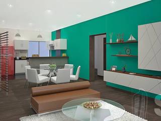 : Salas / recibidores de estilo  por Soluciones Técnicas y de Arquitectura