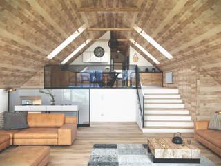 Górski Loft: styl , w kategorii Salon zaprojektowany przez Seryjny Projektant