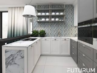 Klasyczna kuchnia od Futurum Architecture Klasyczny