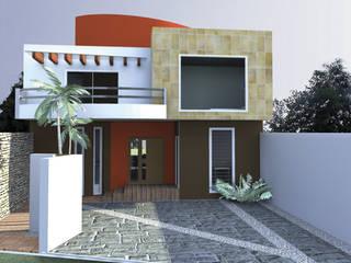 CASA FLORES: Casas de estilo  por De.sign