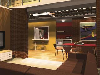 CASA FLORES: Estudios y oficinas de estilo  por De.sign