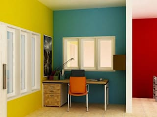homify.co.id Minimalist walls & floors Green