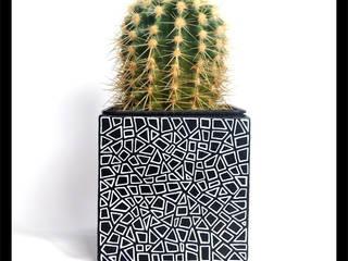 Floreros y plantadores de cerámica de Hypnotic Moderno