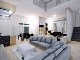 BS House: Ruang Keluarga oleh Pr+ Architect, Minimalis