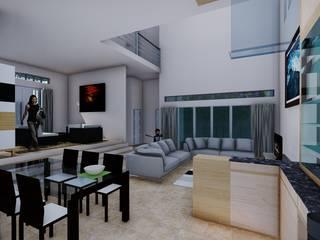 BS House: Ruang Makan oleh Pr+ Architect, Minimalis