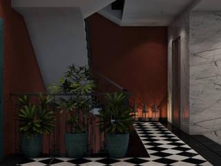 Corridor & hallway by ICONIC DESIGN STUDIO