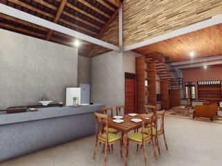 RH House: Dapur oleh Pr+ Architect, Tropis