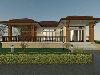 Baños de estilo  por ช่างณีมิตรรับซ่อมบ้านออกแบบต่อเติมรับเหมาก่อสร้าง, Rural