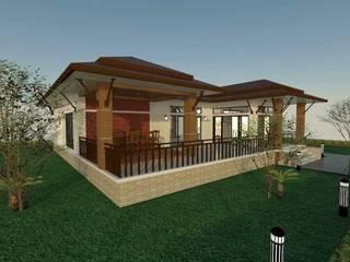 Techos a cuatro aguas de estilo  por ช่างณีมิตรรับซ่อมบ้านออกแบบต่อเติมรับเหมาก่อสร้าง, Clásico