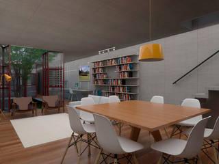 Casa Campestre: Salas de jantar  por CEU Arquitetos