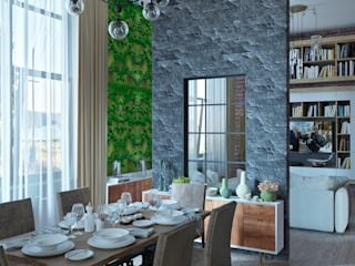 Частный  жилой дом: Столовые комнаты в . Автор – Yurov Interiors,