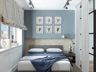 Квартира для молодой семейной  пары: Спальни в . Автор – Yurov Interiors,