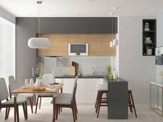 Семейная квартира: Кухни в . Автор – Yurov Interiors,