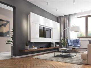 Квартира в современном стиле: Гостиная в . Автор – Yurov Interiors,
