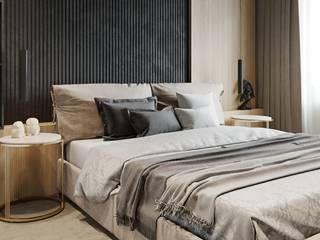 Квартира для творческой пары: Спальни в . Автор – Yurov Interiors