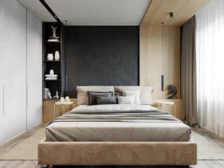 Квартира для творческой пары: Спальни в . Автор – Yurov Interiors,