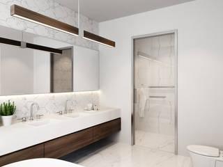 VILLA - VŨNG TÀU Phòng tắm phong cách hiện đại bởi REAL HOME VN Hiện đại